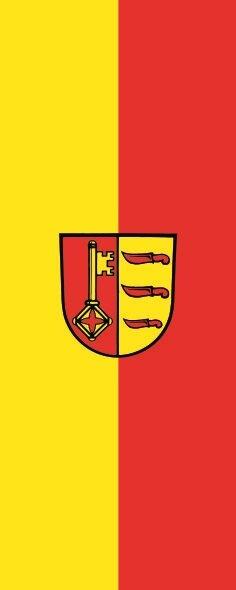 Flagge Dischingen im Hochformat