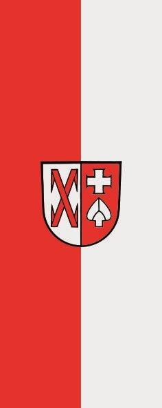 Flagge Ditzingen im Hochformat