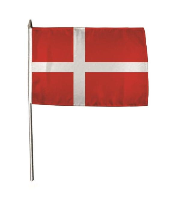 Stockflagge Dänemark 30 x 45 cm