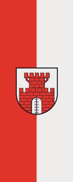 Flagge Dömitz im Hochformat