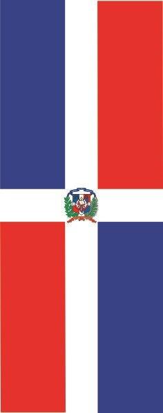 Flagge Dominikanische Republik im Hochformat