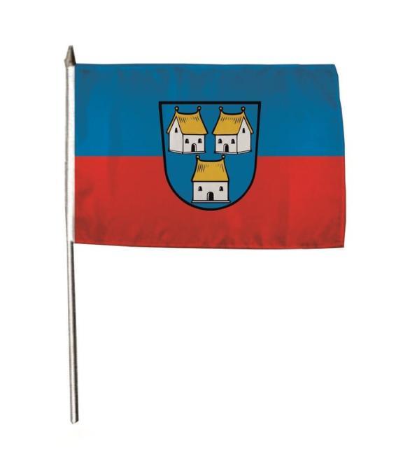 Stockflagge Dorfen 30 x 45 cm