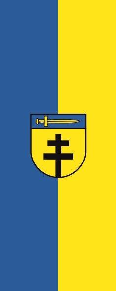 Flagge Dornstadt im Hochformat