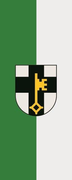 Flagge Dorsten im Hochformat