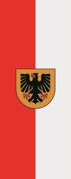 Flagge Dortmund im Hochformat