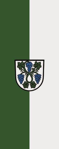 Flagge Dossenheim im Hochformat