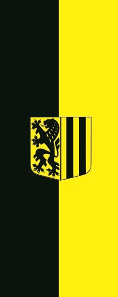 Flagge Dresden im Hochformat