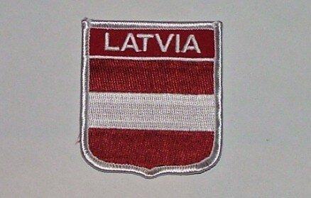 Wappenaufnäher Latvia Lettland