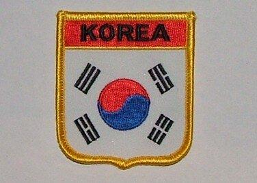 Wappenaufnäher Korea Süd Korea