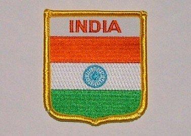 Wappenaufnäher India Indien