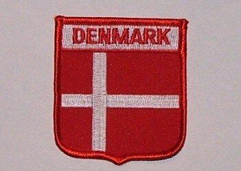 Wappenaufnäher Dänemark Denmark