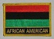 Aufnäher Afro American mit Schrift