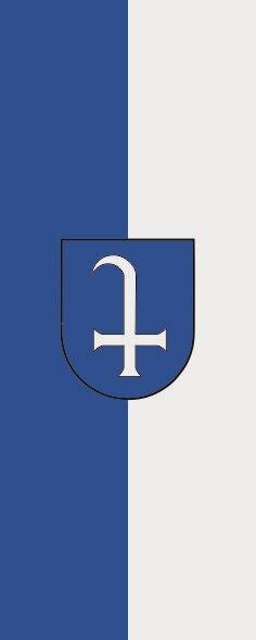 Flagge Dudenhofen im Hochformat
