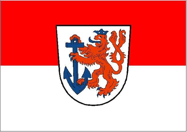 Flagge Düsseldorf 20 x 30 cm