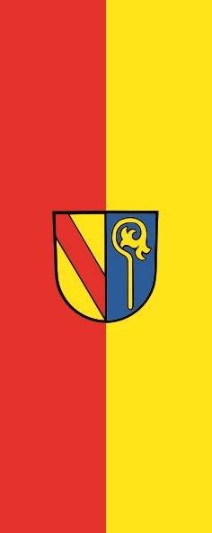 Flagge Durmersheim im Hochformat