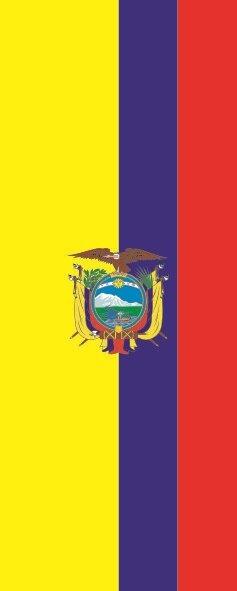 Flagge Ecuador im Hochformat