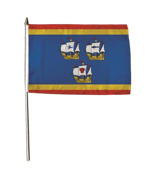 Stockflagge Eiderstedt Nordsee 30 x 45 cm