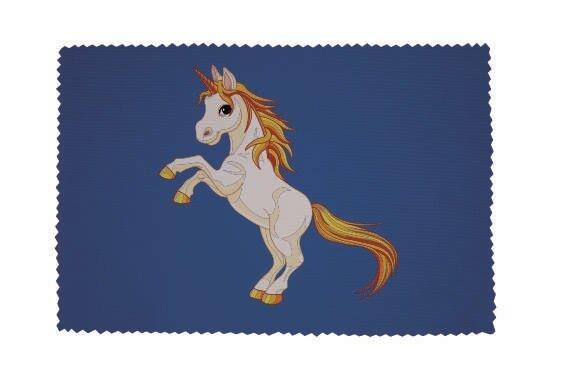 Glasreinigungstuch Einhorn Motiv Nr. 2 blau