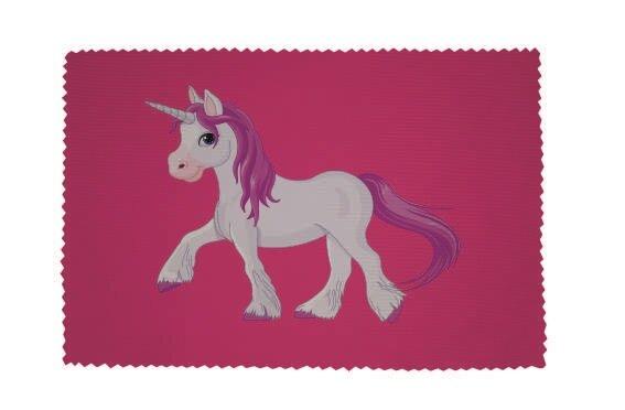 Glasreinigungstuch Einhorn Motiv Nr. 3 pink