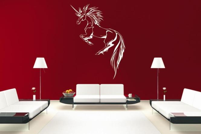 wandtattoo einhorn motiv nr 6. Black Bedroom Furniture Sets. Home Design Ideas