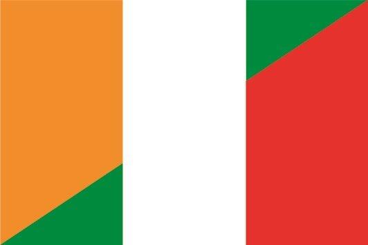 Aufkleber Elfenbeinküste-Italien