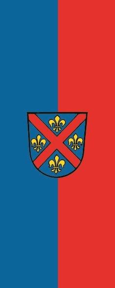 Flagge Ellwangen ( Jagst ) im Hochformat