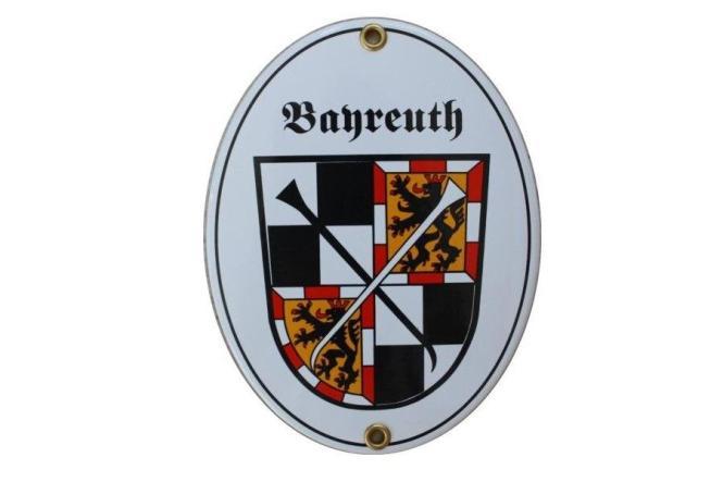 Emailschild Bayreuth 11,5 x 15 cm