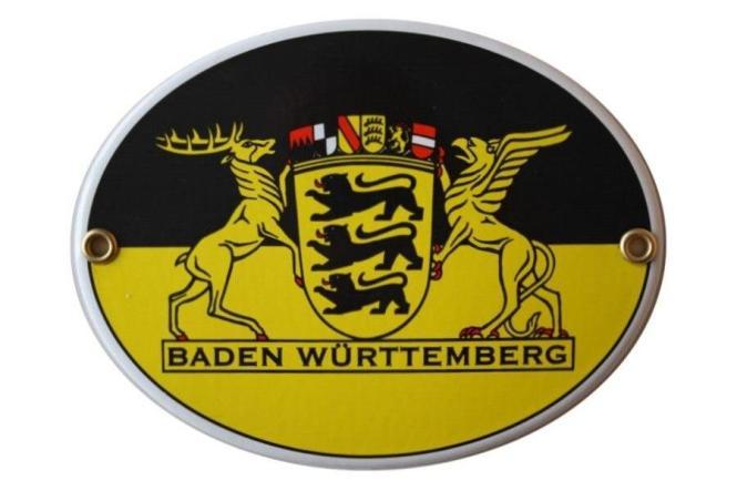 Emailschild Baden-Württemberg mit großem Landessiegel 15 x 11,5 cm