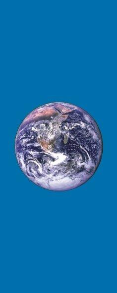 Flagge Erde im Hochformat