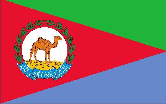 Flagge Eritrea Präsident