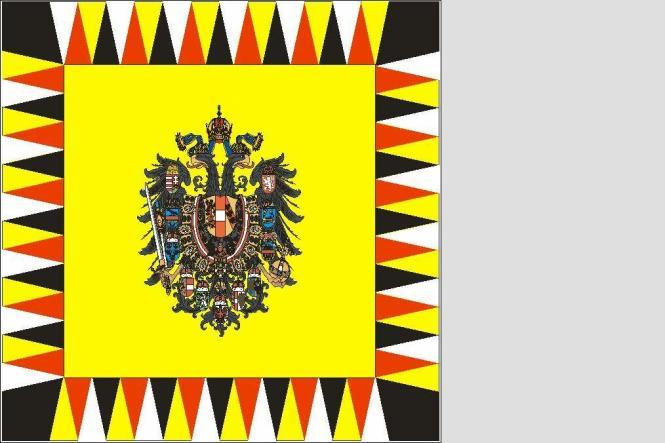 fahne standarte des erzherzogs von sterreich ungarn 150 x 150 cm. Black Bedroom Furniture Sets. Home Design Ideas