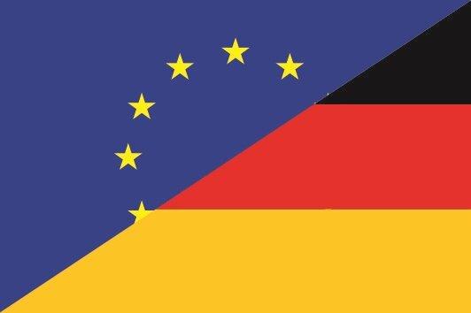 Aufkleber Europa-Deutschland 30 x 20 cm