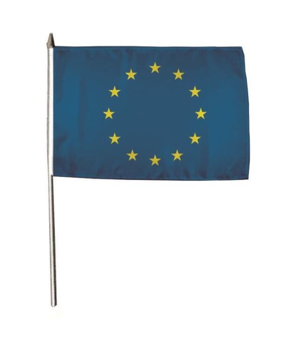 Stockflagge Europa 30 x 45 cm