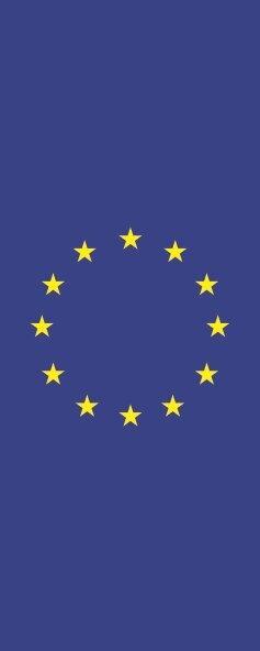 Flagge Europa im Hochformat 120 x 300 cm
