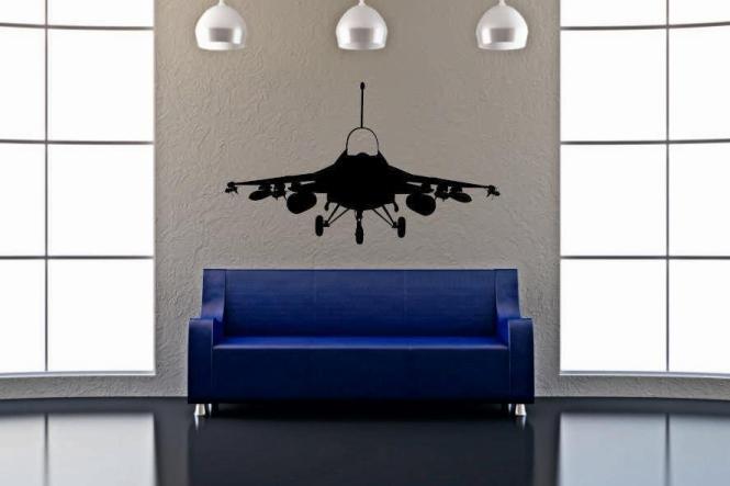 Wandtattoo F-16 Kampfjet