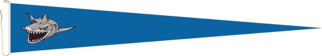 Langwimpel Fieser Hai blau