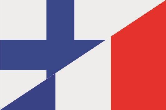 Aufkleber Finnland-Frankreich