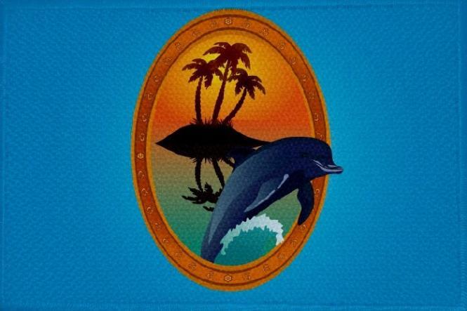 Aufnäher Fisch Motiv Nr. 1 Patch 9 x 6 cm