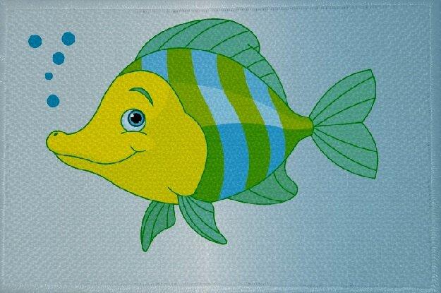 Aufnäher Fisch Motiv Nr. 18 Patch 9 x 6 cm