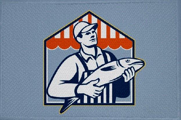 Aufnäher Fisch Motiv Nr. 24 Patch 9 x 6 cm