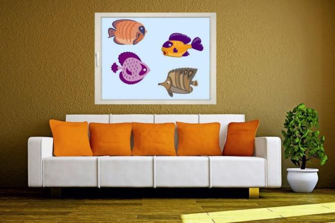 Fenstertattoo Fische Set