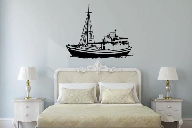 Wandtattoo Fischerboot