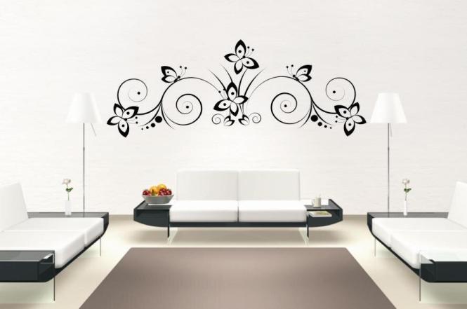 Wandtattoo Floral Butterflies Motiv Nr. 2