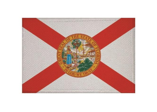 Aufnäher Patch Florida 9 x 6 cm