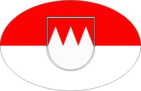 Aufkleber oval Franken 10 x 6,5 cm