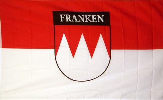 Fahne Franken mit Schrift 90 x 150 cm