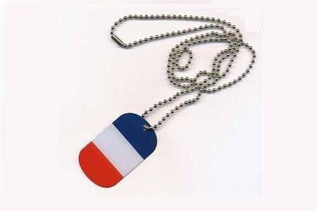 Dog Tag Erkennungsmarke Frankreich 3 x 5 cm