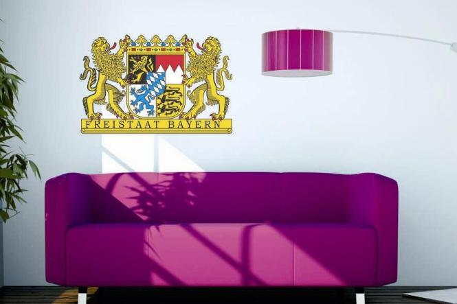 wandtattoo freistaat bayern wappen. Black Bedroom Furniture Sets. Home Design Ideas