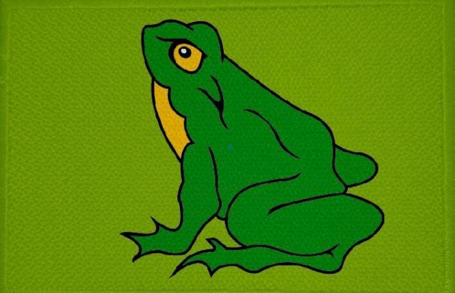 Aufnäher Frosch Motiv Nr. 18 Patch 9 x 6 cm