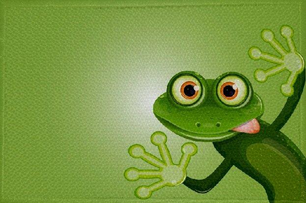 Aufnäher Frosch Motiv Nr. 4 Patch 9 x 6 cm